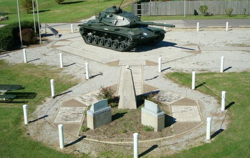 Army Tank & Memorial Walkway