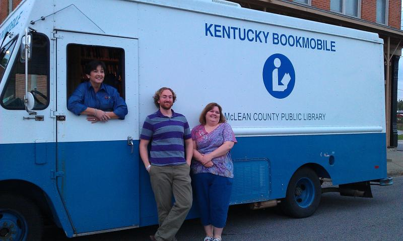 Aimee Newberry, Director; Jason Peek, Asst. Director & Tina Dame, Library Clerk