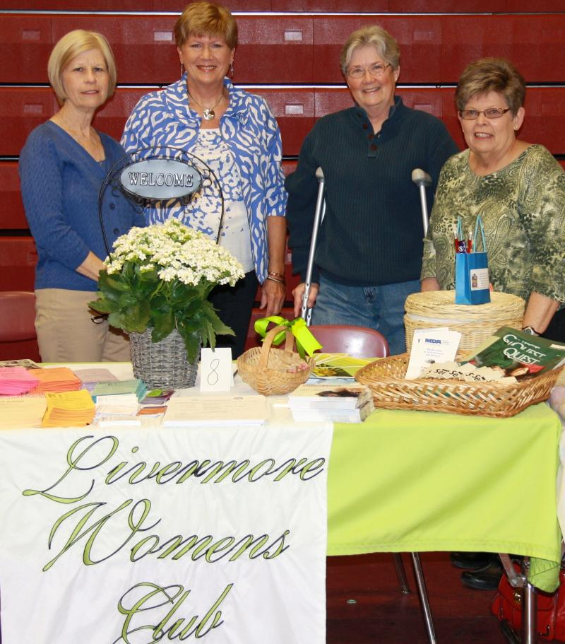 Livermore Woman's Club Booth promoting MDA 5K Run/Walk April 13th