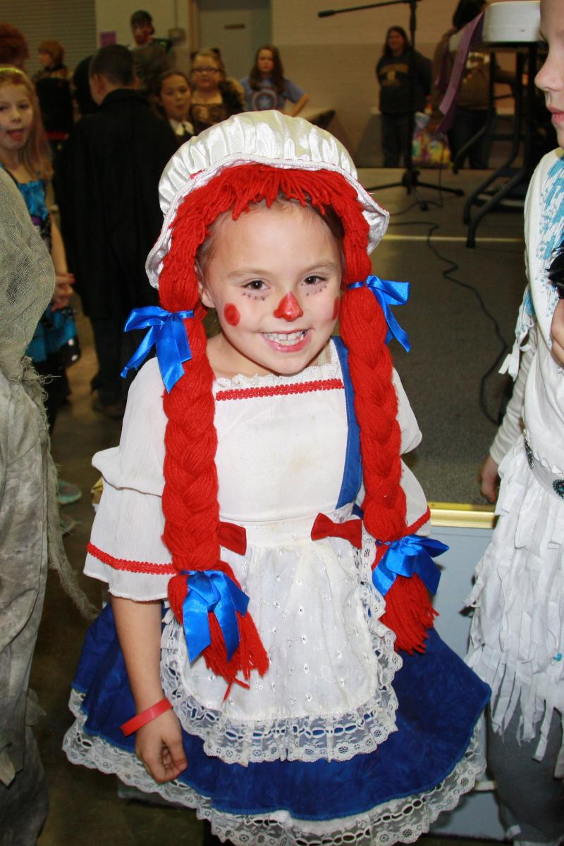"6-10 Year Category: Prettiest: ""Raggedy Ann"" - Morgan Bell"