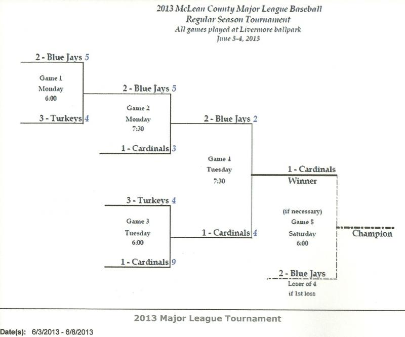 2013 Mclean County Major League Baseball